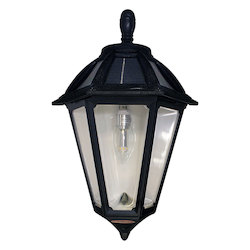 Polaris Sconce W/Gs Solar Light Bulb -  Black