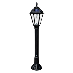 Polaris Bollard Solar Light - Black