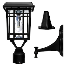 Prairie Bulb Solar Light W/Gs Light Bulb - Wall/Pier/3