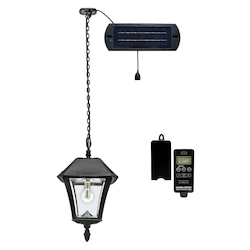 Baytown Ii Bulb Solar Hanging Light - Black - Resin