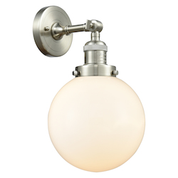 Innovations Lighting 203-SN-G201-8-LED 1 Light Vintage Dimmable Led Sconce