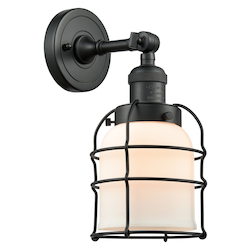 Innovations Lighting 203-BK-G51-CE-LED 1 Light Vintage Dimmable Led Sconce