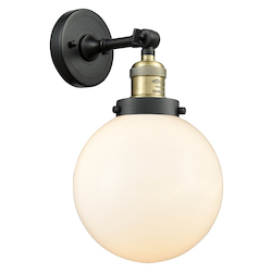 Innovations Lighting 203-BAB-G201-8-LED 1 Light Vintage Dimmable Led Sconce