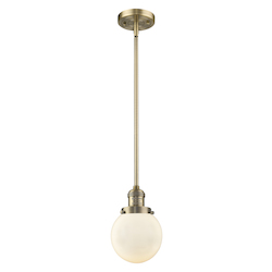 Innovations Lighting 201S-BB-G201-6-LED 1 Light Vintage Dimmable Led Mini Pendant