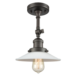 Innovations Lighting 201F-OB-G1 1 Light Semi-Flush Mount