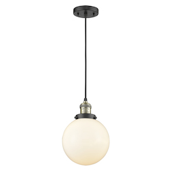 Innovations Lighting 201C-BAB-G201-8 1 Light Mini Pendant