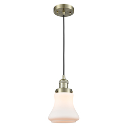 Innovations Lighting 201C-AB-G191-LED 1 Light Vintage Dimmable Led Mini Pendant