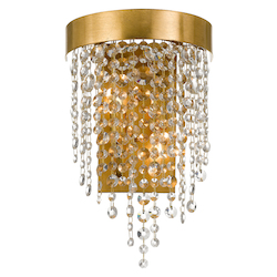 Crystorama WIN-612-GA-CL-MWP Windham 2 Light Antique Gold Crystal Wall Mount
