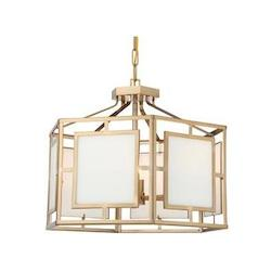 Crystorama HIL-995-VG Libby Langdon For Hillcrest 6 Light Vibrant Gold Chandelier