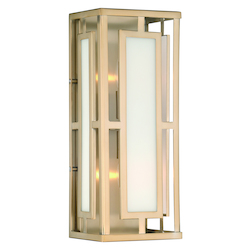 Crystorama HIL-992-VG Libby Langdon For Hillcrest 2 Light Vibrant Gold Wall Mount