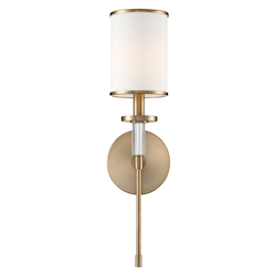 Crystorama HAT-471-VG Hatfield 1 Light Aged Brass Wall Mount