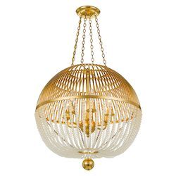 Crystorama DUV-626-GA Duval 6 Light Antigue Gold Chandelier
