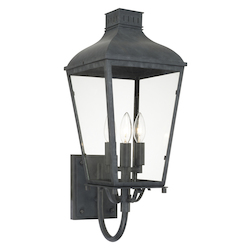Crystorama DUM-9802-GE Dumont Outdoor 3 Light Graphite Wall Mount