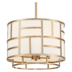 Crystorama DAN-404-VG Libby Langdon For Danielson 4 Light Vibrant Gold Chandelier