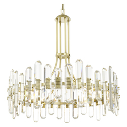 Crystorama BOL-8889-AG Bolton 12 Light Aged Brass Chandelier