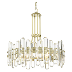 Crystorama BOL-8888-AG Bolton 6 Light Aged Brass Chandelier