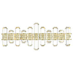 Crystorama BOL-8883-AG Bolton 3 Aged Brass Light Vanity