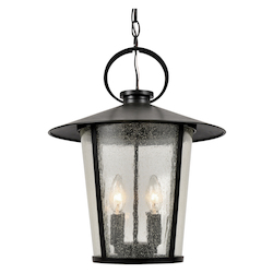 Crystorama AND-9204-SD-MK Andover Outdoor 4 Light Matte Black Chandelier