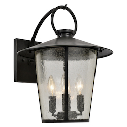 Crystorama AND-9202-SD-MK Andover Outdoor 4 Light Matte Black Outdoor Wall Mount