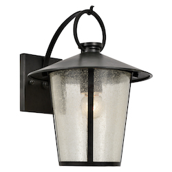 Crystorama AND-9201-SD-MK Andover Outdoor 1 Light Matte Black Wall Mount