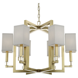 Crystorama 8886-AG Dixon 6 Light Aged Brass Chandelier
