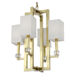 Crystorama 8884-AG Dixon 4 Light Aged Brass Chandelier