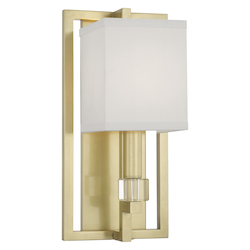 Crystorama 8881-AG Dixon 1 Light Aged Brass Sconce