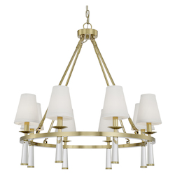 Crystorama 8867-AG Baxter 8 Light Aged Brass Chandelier