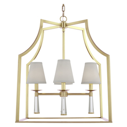 Crystorama 8864-AG 4 Light Aged Brass Chandelier