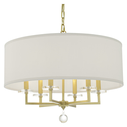 Crystorama 8116-AG Paxton 6 Light Antique Gold Chandelier