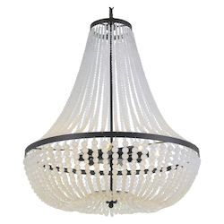 Crystorama 609-MK Rylee 8 Light Matte Black Chandelier