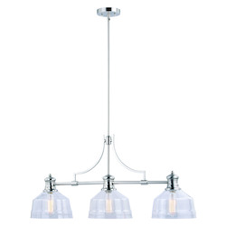 Vaxcel International H0221 Beloit 3 Light Linear Chandelier