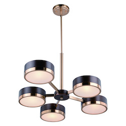 Vaxcel International H0218 Madison 5 Light Chandelier