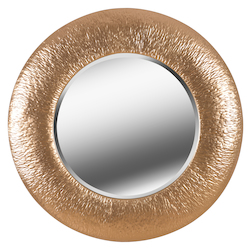 Kenroy Home 60443 Beveled Mirror With Textured Gold Metal Frame