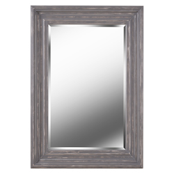 Kenroy Home 60435 Mirror With Distressed Grey And Silver Wood Frame