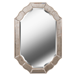 Kenroy Home 60434 Mirror With Antique Mirror And Champagne Finish Frame