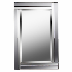 Kenroy Home 60426 Mirror With Beveled Smoke And Plain Mirror Frame