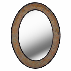 Kenroy Home 60380 Mirror With Natural Slate And Bronzer Finish
