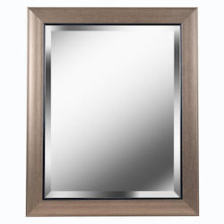 Kenroy Home 60355 Beveled Mirror With Champagne And Black Frame