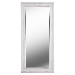 Kenroy Home 60351 Beveled Mirror W/Distressed White Wood Finish Frame