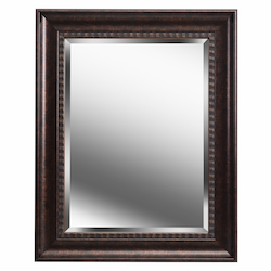 Kenroy Home 60326GB Beveled Mirror With Bronze Finish Frame