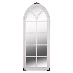 Kenroy Home 60223WHVM Mirror W/ Distressed White Frame, Vm Accents