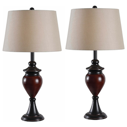 Kenroy Home 32592ORBS 2-Pack Table Lamp
