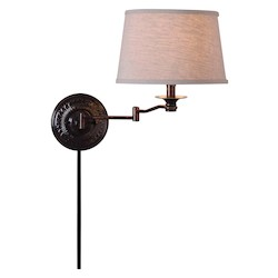 Kenroy Home 32217CBZ Wall Swing Arm Lamp
