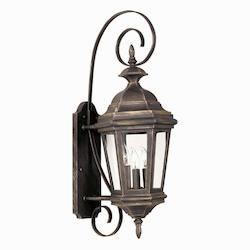 Kenroy Home 16313AP 3 Light Medium Wall Lantern