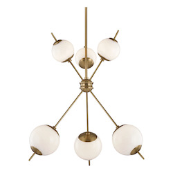 Mitzi H282806-AGB 6 Light Chandelier