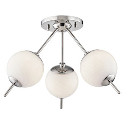 Mitzi H282603-PN 3 Light Flush Mount