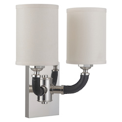 Craftmade 48162-PLN Huxley 2 Light Wall Sconce In Polished Nickel