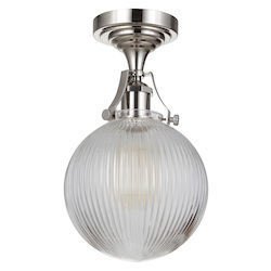 Craftmade X8326-PLN-C 1 Light Semi Flush