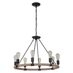 Craftmade 51728-FB 8 Light Chandelier